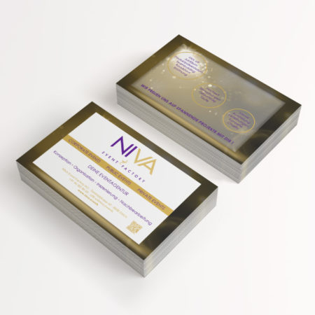 Maell Design - NIVA Events Presentation Flyers © maell design - Marina Ellouzi