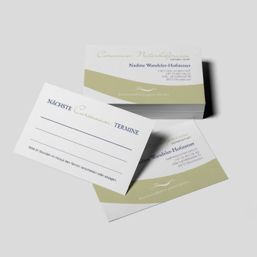 Cursanum business cards - Graphic design Marina Hofstetter